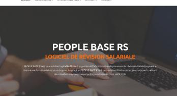 Site de présentation du logiciel de révision salariale PEOPLE BASE RS