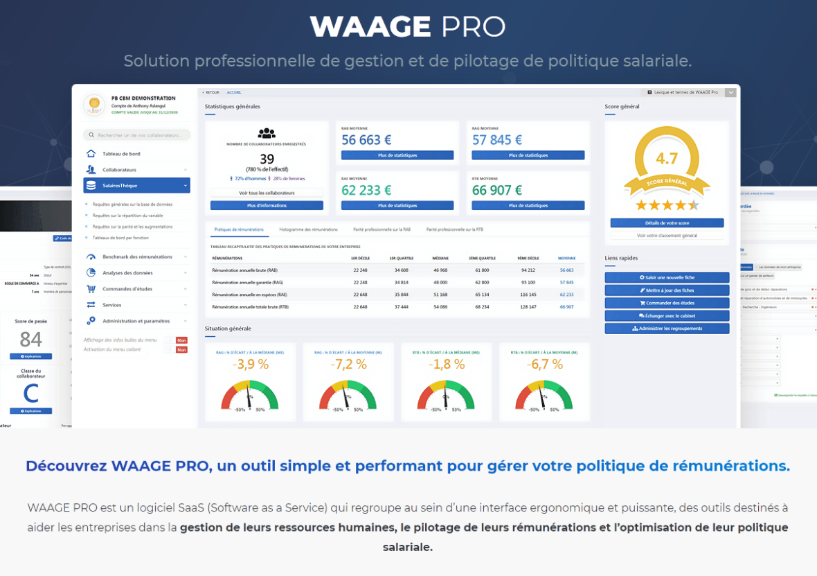 Enquêtes de salaire avec waage pro